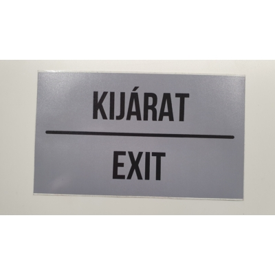 Kijárat/Exit 16 x 12 cm