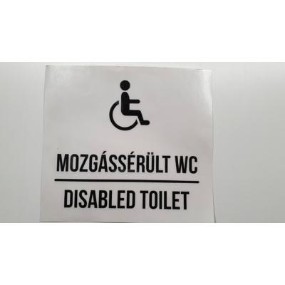 Mozgássérült WC 16 x 12 cm