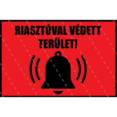 Alarm - Riasztóval védve matrica 16 x 12 cm