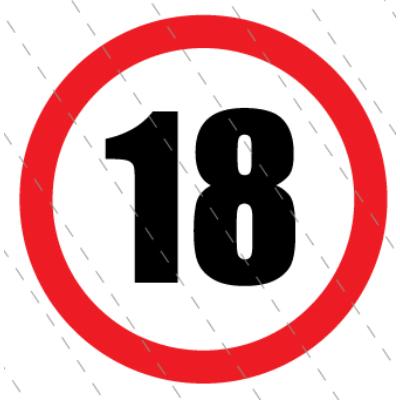 18 - as születésnapi karika 40 x 40 cm