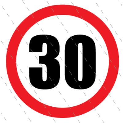 30 - as születésnapi karika 40 x 40 cm
