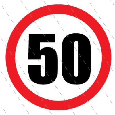 50 - as születésnapi karika 40 x 40 cm